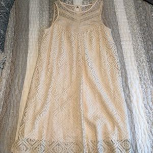 Off white A-line lace dress